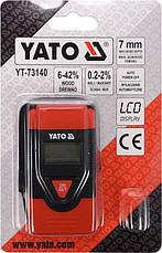 Вологомір для деревини і будматеріалів YATO YT-73140, фото 3