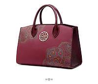 Женская кожаная сумка оригинальный дизайн, фото 1