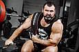 Пояс шкіряний атлетичний 6/15 см, карабін, двошаровий, фото 8