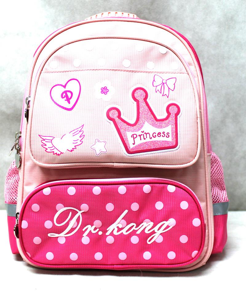 Рюкзак школьный ортопедический Dr. Kong, Princess, розовый,  размер S