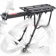 Консольный багажник усиленный на велосипед алюминиевый