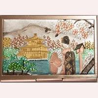 Японская визитница «Девушка с красным зонтиком»