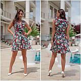 Плаття-сарафан літній міні на запах з натуральної тканини коттон, 2 кольори р. 48-50,52-54 код 332V, фото 2