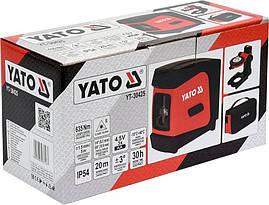 Нівелір лазерний стяжка YATO YT-30425, фото 3
