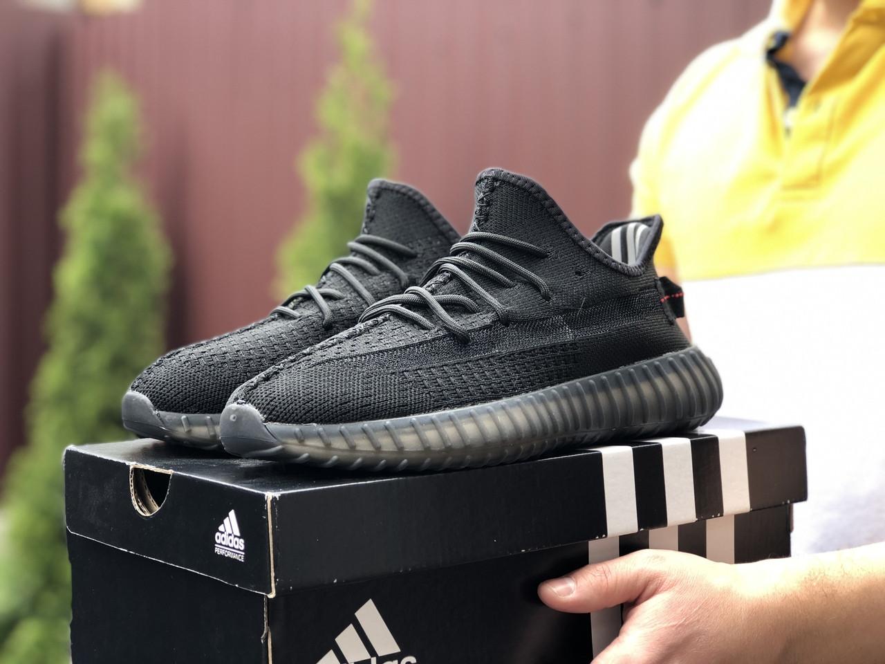 Модные мужские кроссовки Adidas x Yeezy Boost,черные
