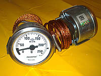 Термометр металлический 250 градусов Ф-60 мм. с капилляром 1-метр. PAKKENS производство Турция