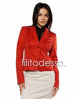 Короткий пиджак терракота до 50р, фото 1