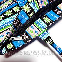Сумка летняя текстильная для пляжа и прогулок, фото 3