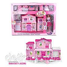 Кукольный дом 6665 с куклой,мебелью батар.муз.свет.
