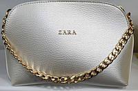 Женский перламутровый клатч Zara из кожзама на 3 отделения 25*17 см, фото 1