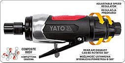 Шлифмашина прямая пневматическая YATO YT-09632, фото 2