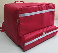 Рюкзак, термосумка для доставки еды с отделением для коробок на пиццу 50*50 см, фото 1