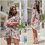 Платье свободное полукруглый низ, открытые плечи, софт, 3 цвета р.48,50,52,54 код 330V, фото 4
