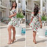Платье свободное полукруглый низ, открытые плечи, софт, 3 цвета р.48,50,52,54 код 330V, фото 6