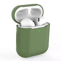 Силиконовый чехол для наушников Apple Airpods Зеленый