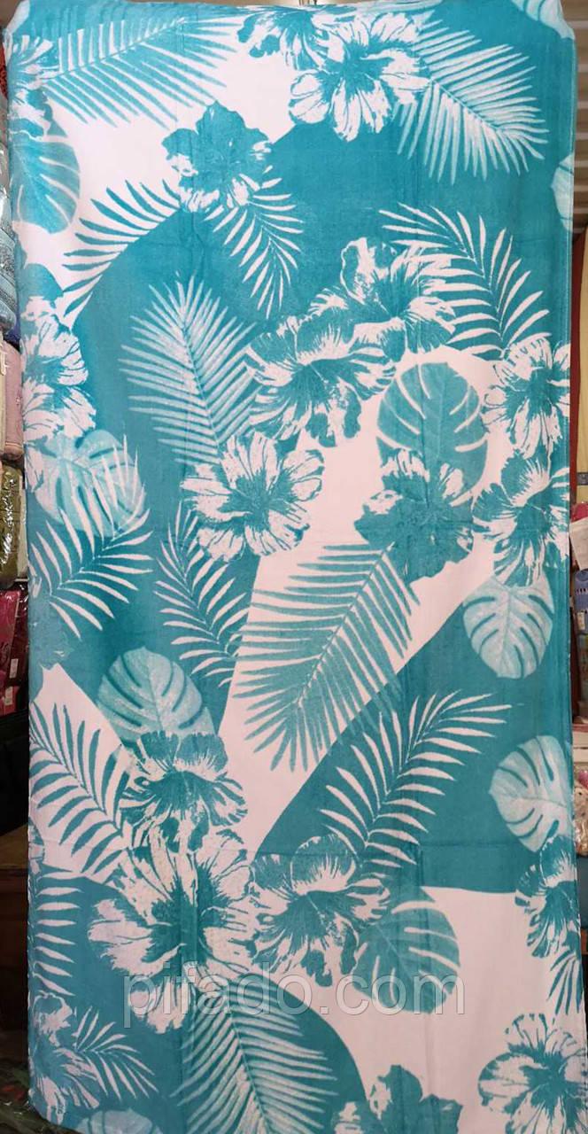 Пляжное полотенце (велюр-махра) 75х150.