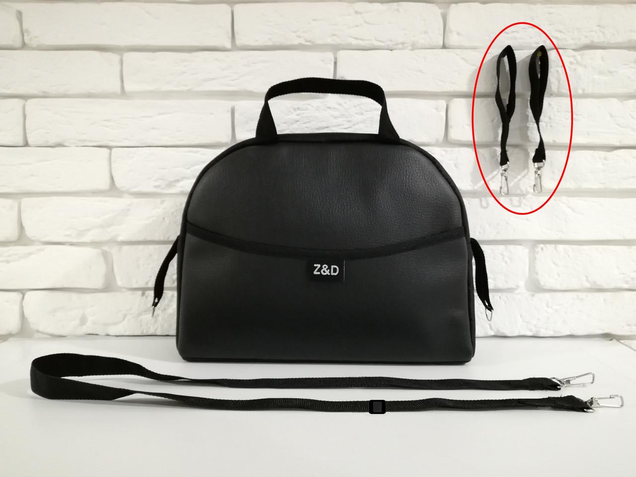 Сумка на коляску универсальная Z&D New Еко кожа (Черный жемчуг)