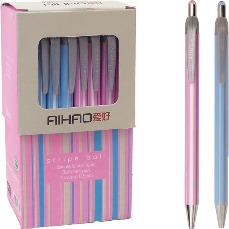 Ручка шариковая Aihao AH-567, синяя