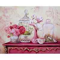 Картина по номерам Розы.Винтажный стиль 30*40 см КНО2916, фото 1