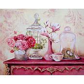 Картина по номерам Розы.Винтажный стиль 30*40 см КНО2916