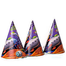 Колпачки детские карнавальные космос 10 шт