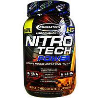 Протеин изолят MuscleTech Nitro Tech Power 907 g сывороточный протеин для набора массы и похудения