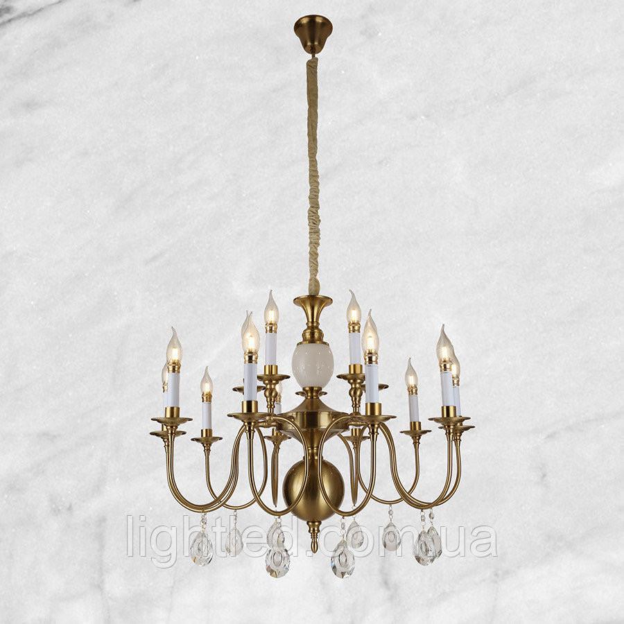 Медная классическая люстра (75-6117 CU) 15 ламп