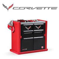 """Комод для игрушек в детскую комнату """"CORVETTE DRESSER"""", цвета красный и черный, дизайн машины корвет"""