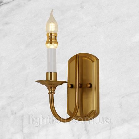 Медная классическая бра (75-W6117 CU) 1 лампа, фото 2