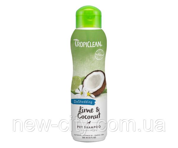 TropiClean Lime&Coconut 355ml Шампунь для кошек и собак лайм и кокос 355мл