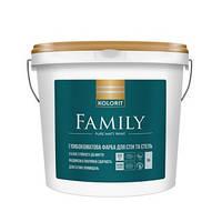 Kolorit Family 4,5л база А - латексная краска для внутренних работ