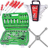 Набор инструментов 108 ед.Intertool ET-6108SP + набор ключей 12 ед.HT-1203 + Набор ударных отверток 6 шт
