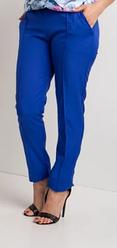 Женские легкие брюки с карманами норма цвет электрик размеры от 44 до 58