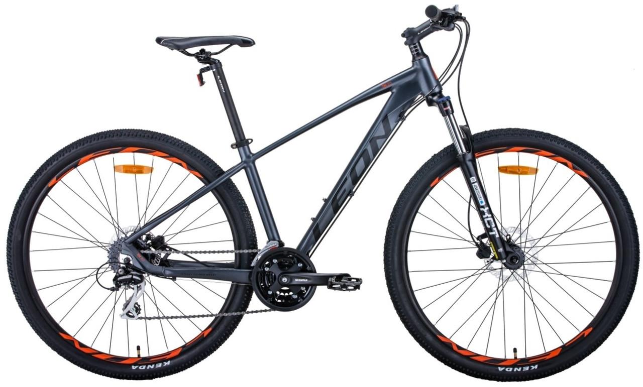 """Велосипед 29"""" Leon TN-80 2020 (графитовый с черным и оранжевым (м))"""