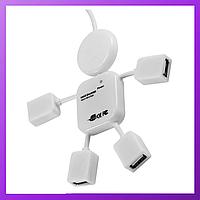 Usb HUB на 4 порта, USB тройник, USB удлинительMicro-usb, юсб хаб, usb концентратор папа - мама