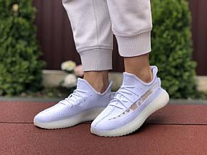 Модные кроссовки Adidas x Yeezy Boost, текстиль,белые, фото 3