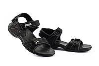 Подростковые сандали кожаные летние черные-серые Monster Tracking П-сер, фото 1