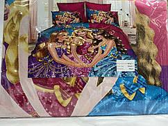 Постельное белье детская фланель полуторка 160-210(Девочка расцветки)