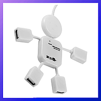 Usb HUB на 4 порта, USB тройник, USB удлинитель юсб хаб, otg, usb концентратор папа - мама