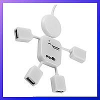 Usb HUB на 4 порта, USB тройник, USB удлинительMicro-usb, юсб хаб, otg, usb концентратор папа - мама