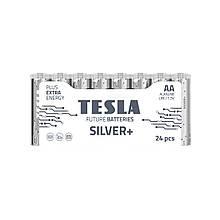 Щелочные батарейки TESLA SILVER+ AA (LR06) 24 шт.