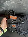 Детские босоножки кожаные летние черные-оранжевые CrosSAV Boy 222 Orange, фото 2