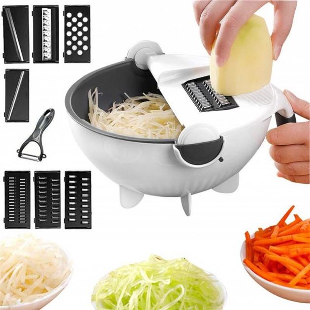 Терка-овощерезка многофункциональная с контейнером Basket Vegetable Cutter