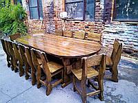 Садовая мебель из массива дерева 3000х1200 от производителя для дачи, кафе, комплект Furniture set - 21