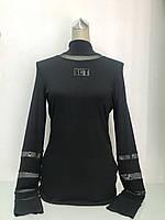 Водолазка женская  Societa черная с прозрачными вставками., фото 1