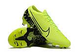 Бутсы Nike Mercurial Vapor XIII Elite FG light green/black, фото 4