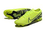 Бутсы Nike Mercurial Vapor XIII Elite FG light green/black, фото 6