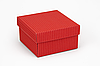 """Коробочка """"Преміум"""" М0003-о42 гофра червона, розмір: 90*90*50 мм"""