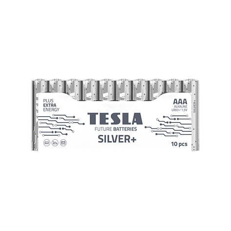 Щелочные батарейки TESLA SILVER+ AAА (LR06) 10 шт., фото 2
