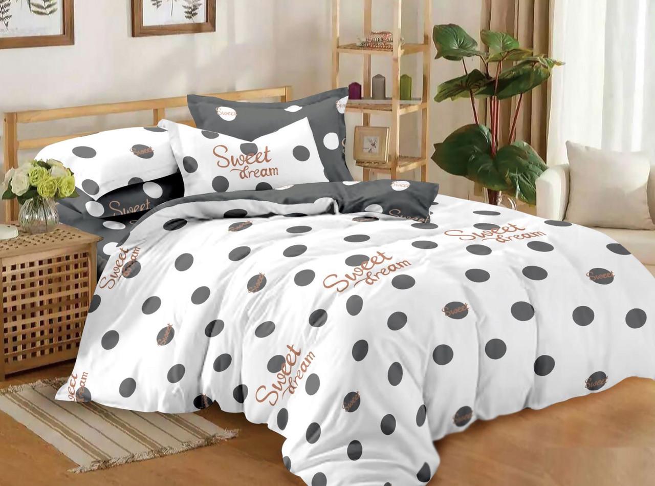 Комплект постельного белья евро на резинке 200*220 хлопок (14587) TM KRISPOL Украина